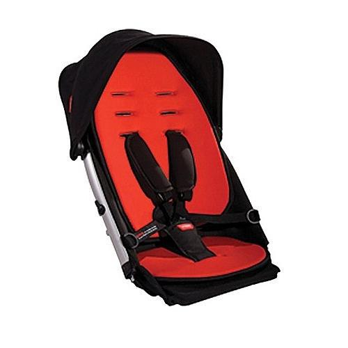 Phil &Teds Verve Buggy Stroller Double Kit - Red