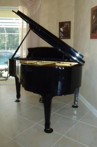 Piano Ridgewood By Weber Polished Ebony Baby Grand For