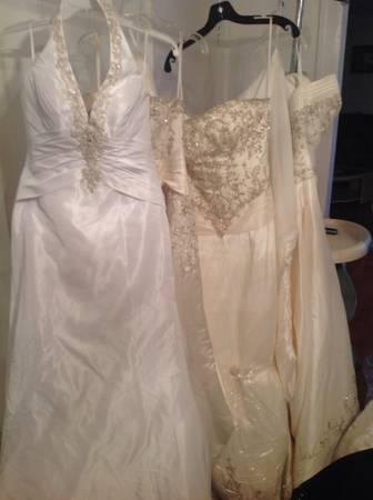 Pick up any wedding dress for only $150 and $200 each -