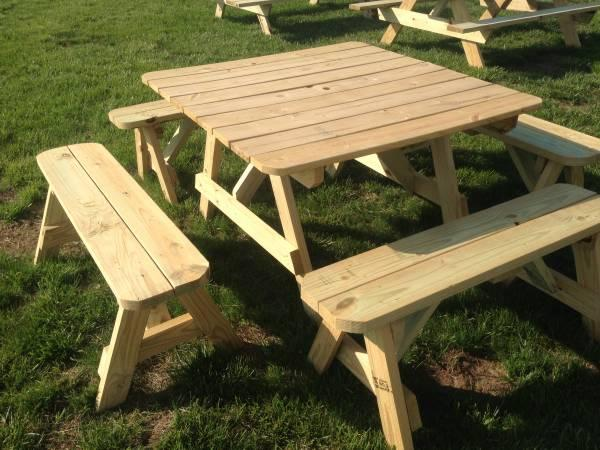 PICNIC TABLES ALL SHAPES AND SIZES For Sale In Laurel Delaware - Long picnic table for sale