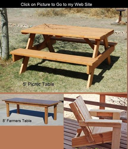 Picnic Tables And Other Outdoor Furniture Pueblo Area For Sale