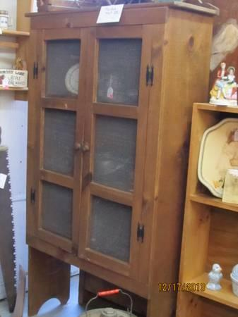 Pie Safe Lighted Curio Cabinet Hutch Bakers Rack 3