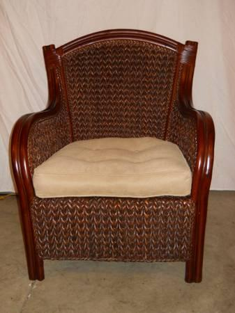 Pier 1 Wicker King Armchair For Sale In Keedysville
