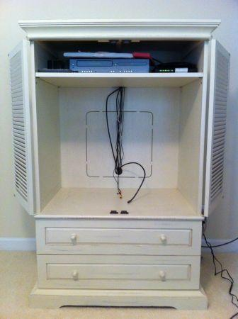 Pier One Shabby Chic Savanna Armoire TV Cabinet For Sale In Atherton California