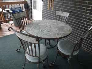Pier 1 Slate Metal 7pc Patio Furniture Allison Park For Sale In Pittsburgh Pennsylvania