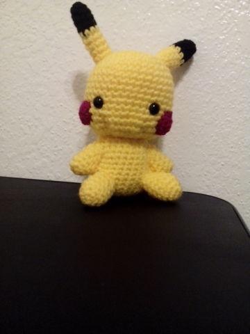 Chibi Pikachu Amigurumi : Pikachu Plush Amigurumi Chibi Anime