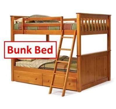 Pine Bunk Bed Bookshelf Desk Dresser Set For Sale In Lewis Center