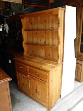 Pine kitchen hutch or china cabinet for sale in cypress for Furniture 77429
