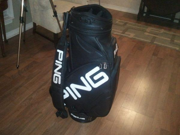 Get Ations Ping Hoofer Golf Bag Black Blue Stand S H Lite W Straps