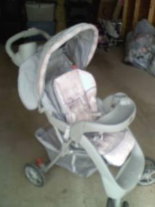 Pink and Grey stroller and little stroller Needs to go ASAP - $40 Evans MillsEagle Ridge