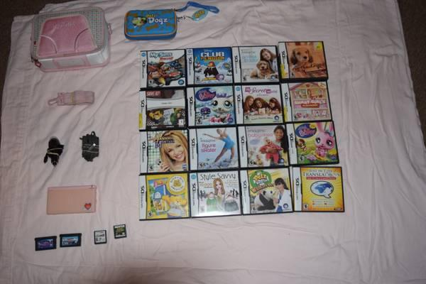 Pink DS with games and accessories - $100