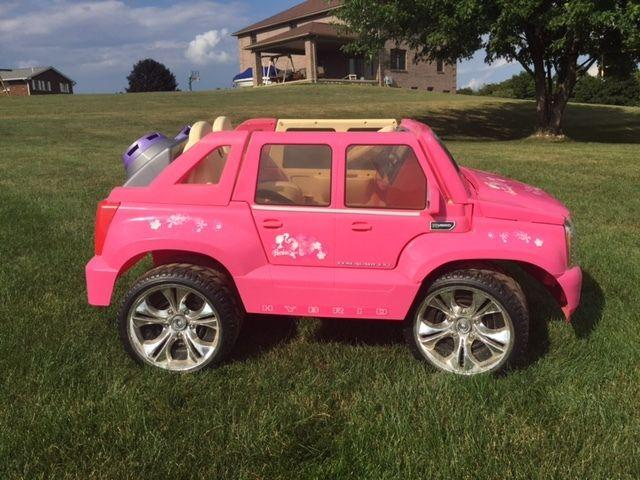 Pink Escalade Power Wheels -$250