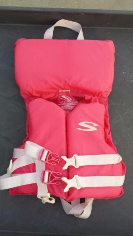 PINK Girls Baby Infant cute life jacket preserver by STEARNS