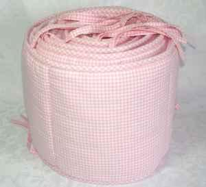 Pink Pottery Barn Baby Crib Bedding Pink Gingham