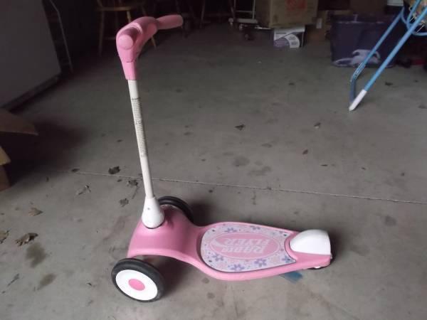 Pink Radio Flyer 3-Wheel Scooter - $10