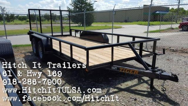 Pipetop 77x16 Utility Trailer with Rear Rampgate