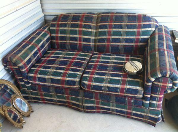 Plaid Couch Loveseat Lamarque For Sale In Galveston