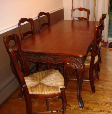 PLATYPUS CARVED MAHOGANY DINING ROOM TABLE U0026 6 CHAIRS