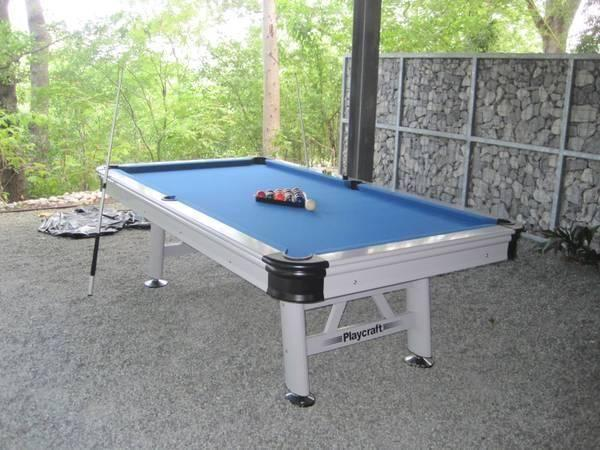 Playcraft Ft Extera Outdoor Billiard Table W Playing Equipment - Mizerak outdoor pool table