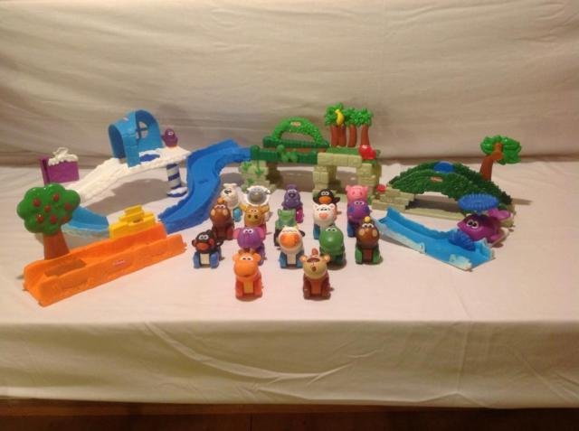 playskool 17 wheel pals with polar party jungle playsets for sale