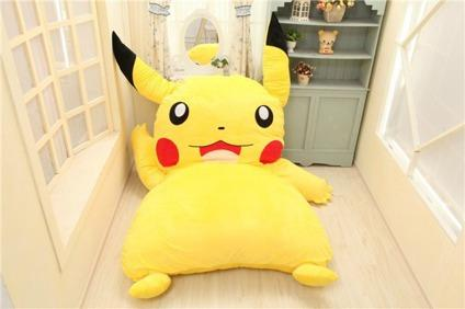 Plush Giant Pokemon Pikachu Bed New Perfect Gift For