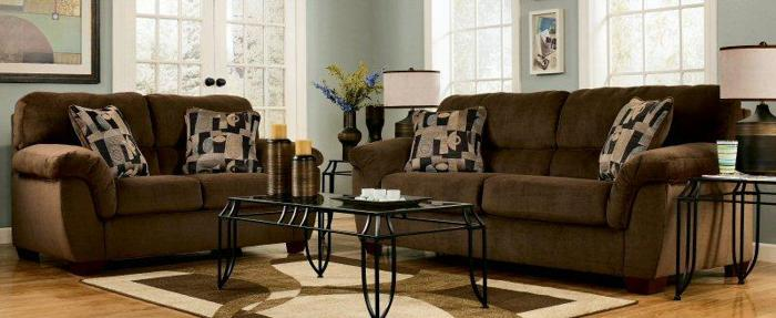 plush microfiber sofa very comfortable enter to win a free bedroom from local furniture. Black Bedroom Furniture Sets. Home Design Ideas