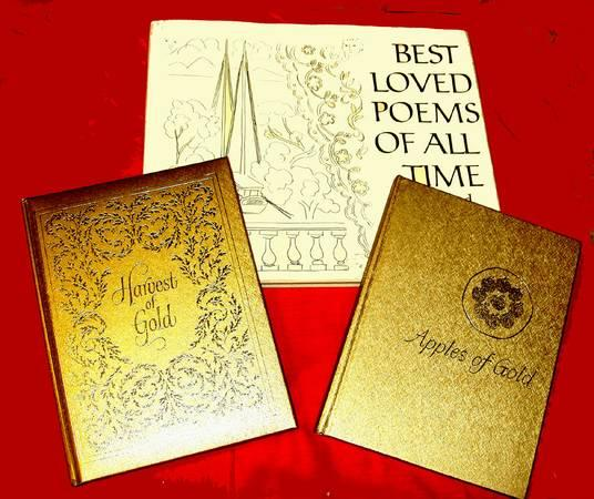 POETRY 3 books Gold Covers $20.00 - $20