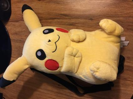 Pokemon Go Pikachu plushie back pack