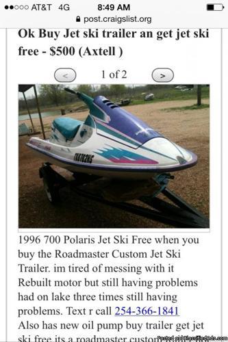 Polaris jet ski an trailer