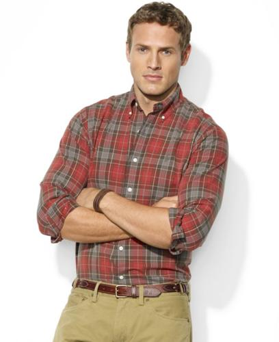 Polo Ralph Lauren Big and Tall Shirt, Assorted Plaid Cotton Oxford Shirts