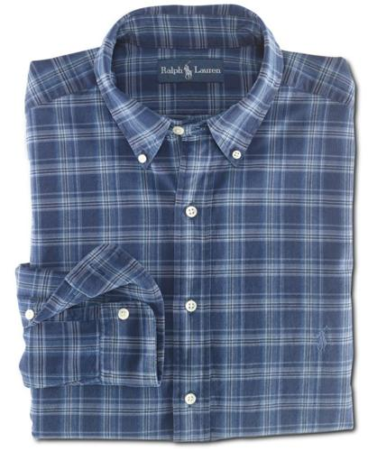 Polo Ralph Lauren Big and Tall Shirt, Classic-Fit Checked Cotton Shirt