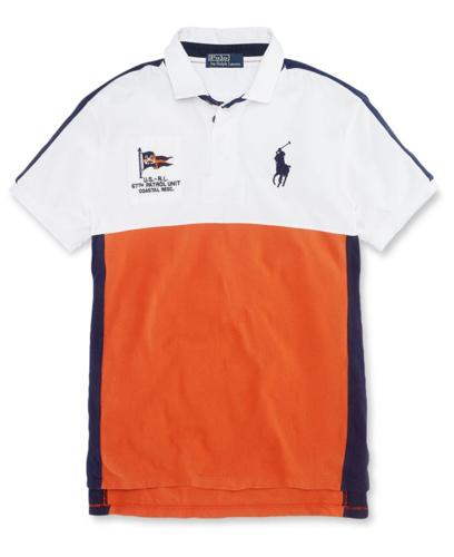 Polo Ralph Lauren Big and Tall Shirt, Classic Fit Colorblock Coastal Rescue Polo Shirt