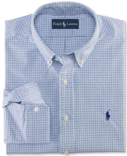 Polo Ralph Lauren Big and Tall Shirt, Classic-Fit Plaid Cotton Poplin Shirt