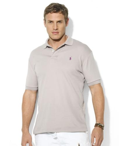 Polo Ralph Lauren Big and Tall Shirt, Classic-Fit Short-Sleeve Cotton Interlock Polo