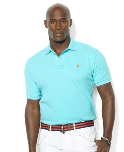 Polo Ralph Lauren Big and Tall Shirt, Classic-Fit Short-Sleeve Cotton Mesh Polo