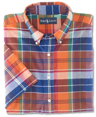 Polo Ralph Lauren Big and Tall Shirt, Classic Fit Short-Sleeve Madras Shirt