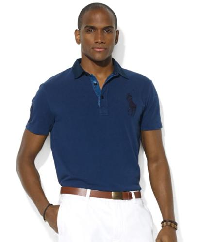 Polo Ralph Lauren Big and Tall Shirt, Classic-Fit Short-Sleeve Mesh Shirt