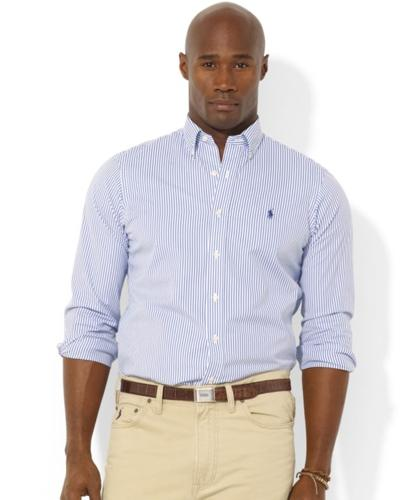 Polo ralph lauren big and tall shirt classic fit striped for Big and tall polo shirts on sale