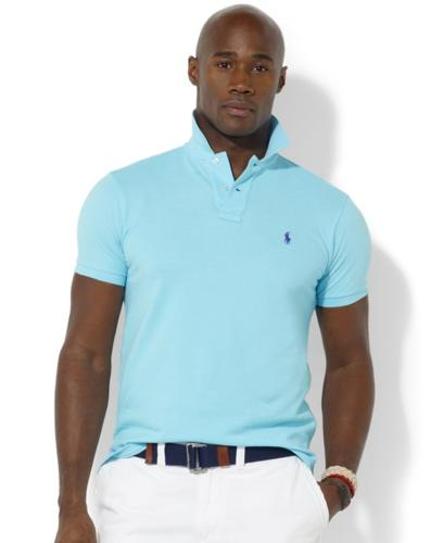 Polo Ralph Lauren Big and Tall Shirt, Custom-Fit Short-Sleeved Cotton Mesh Polo Shirt