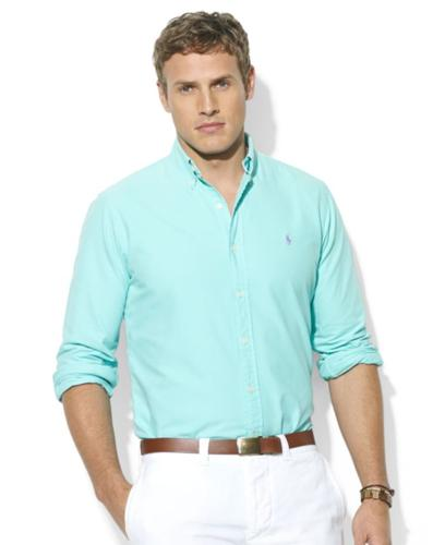 Polo Ralph Lauren Big and Tall Shirt, Long-Sleeve Washed Oxford Sport Shirt