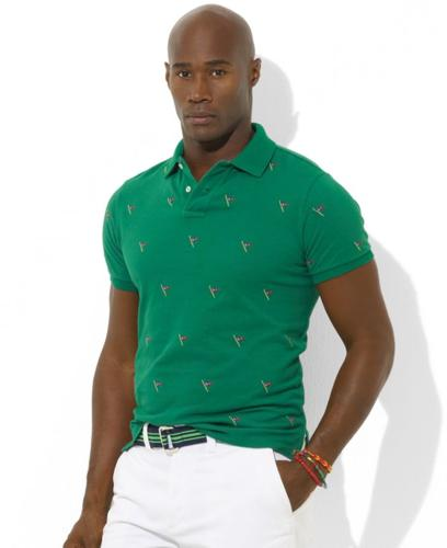 Polo Ralph Lauren Big and Tall Shirt, Short Sleeve Embroidery Print Polo Shirt