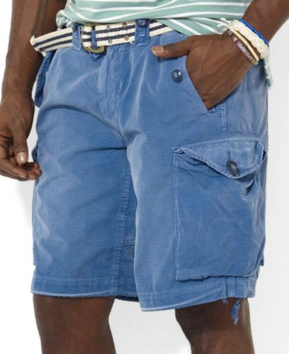 Polo Ralph Lauren Big and Tall Shorts, Canadian Slub Poplin Cargo Shorts