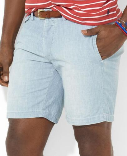 Polo Ralph Lauren Big and Tall Shorts, Preston Chambray Shorts