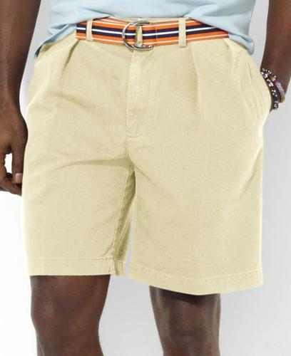 Polo Ralph Lauren Big and Tall Shorts, Vintage Chino Pleated Tyler Shorts