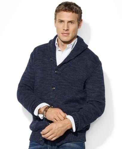 6e989e264e4655 Polo Ralph Lauren Big and Tall Sweater, Shawl Collar Jersey Cardigan ...