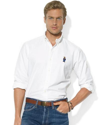 Polo Ralph Lauren Shirt, Classic-Fit Long-Sleeve Cotton Oxford Polo Bear Sport Shirt