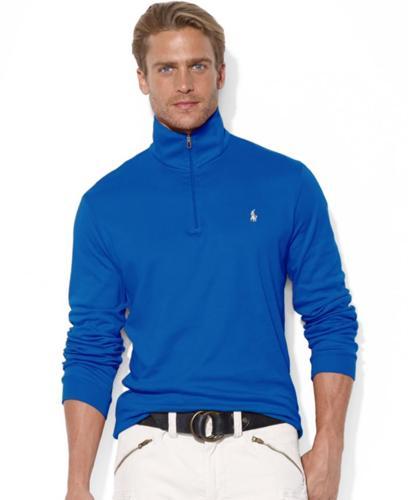 Polo Ralph Lauren Sweater, Half-Zip Mock Neck Pima
