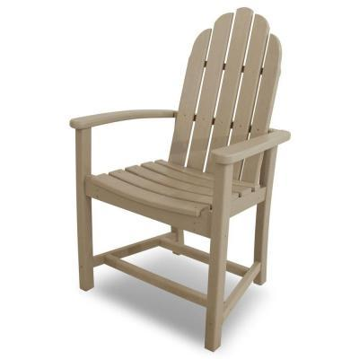 POLYWOOD Classic Adirondack Sand Patio Dining Chair