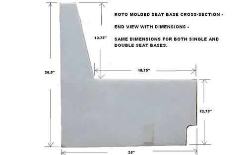 PONTOON BOAT SEATS - PLASTIC ROTO MOLDED SEAT BASES WITH STORAGE