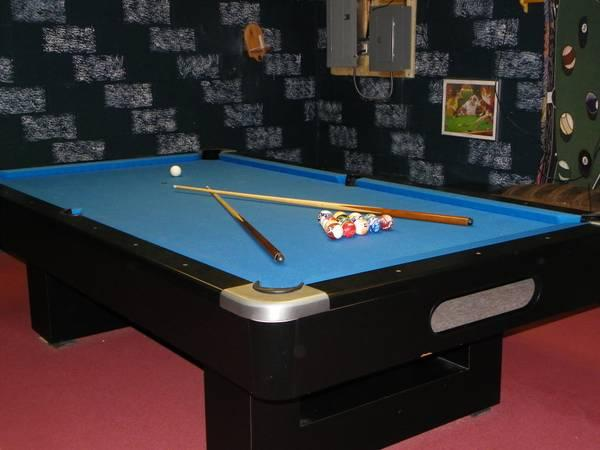 PoolBilliards Table X Regulation Size For Sale In - Electric blue pool table